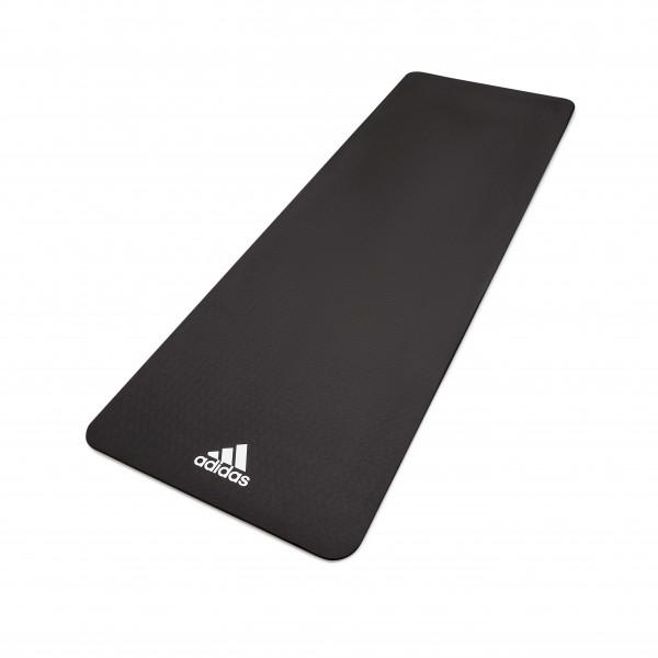 Adidas Fitness- und Yogamatte, 8 mm, Schwarz
