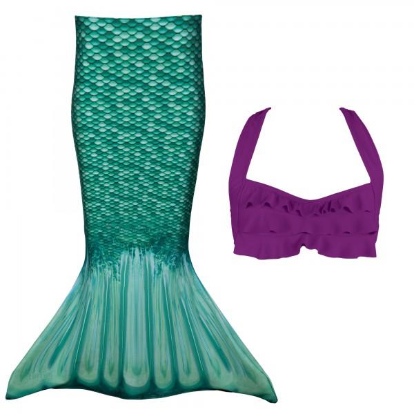 Fin Fun Meerjungfrau Bikini Set CELTIC GREEN
