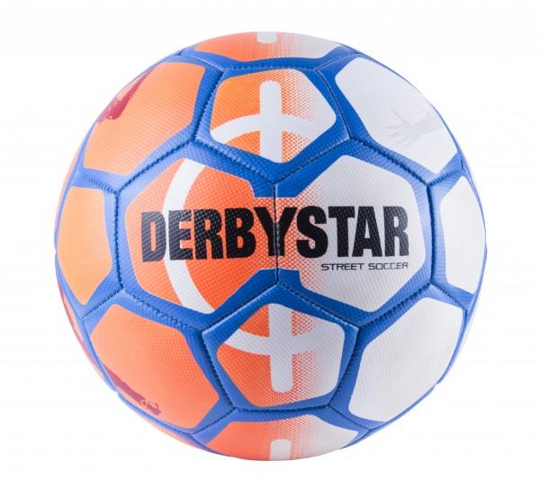 Derbystar STREET SOCCER Fußball Größe 5, orange-weiß-blau