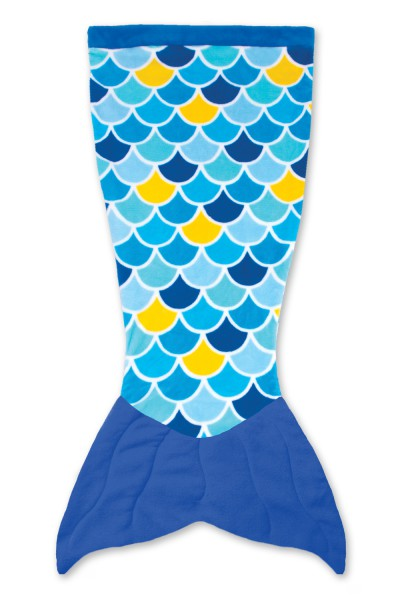 Cuddle Tails Meerjungfrauendecke WAVE BLUE