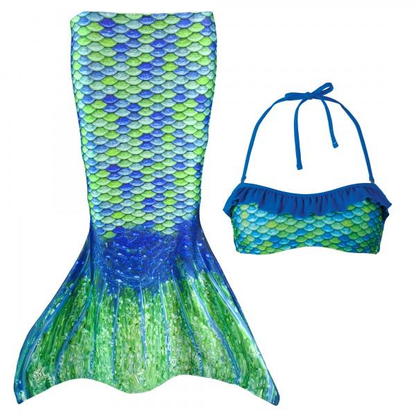 Fin Fun Meerjungfrau Bikini Set AUSSIE GREEN