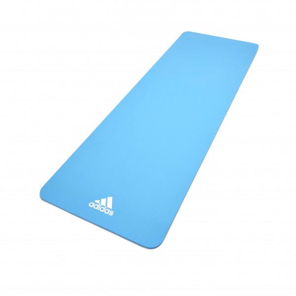 Adidas Fitness- und Yogamatte, 8 mm, Blau